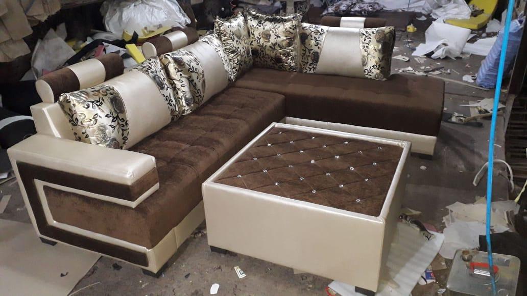 L Shape Sofa Set with Center Table Big size – PONPERI